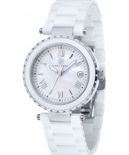 Klaus Kobec KK-10005-01 Ladies venus relógio de cerâmica branca