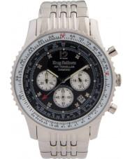 Krug-Baumen 600303DS Mens viajante ar relógio de diamantes