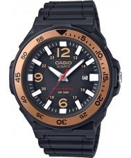 Casio MRW-S310H-9BVEF coleção Mens solar de resina preta alimentado pulseira de relógio
