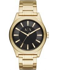 Armani Exchange AX2328 Mens nico pulseira de relógio de aço ouro