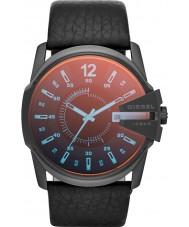 Diesel DZ1657 Mens chefe mestre de couro preto relógio pulseira