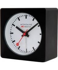 Mondaine A996-ALIG-20SBB relógio cubo de alarme Preto