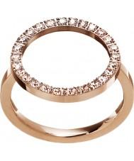 Edblad 3151441908-M Ladies fulgor rosa banhado a ouro anel - tamanho P (m)