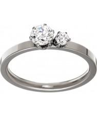 Edblad 31630133-M Ladies dupla coroa anel de aço de prata - tamanho P (m)