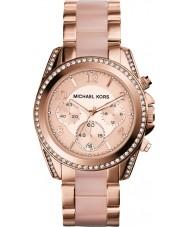 Michael Kors MK5943 Ladies blair rosa banhado a ouro relógio cronógrafo
