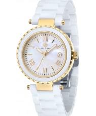 Klaus Kobec KK-10005-02 Ladies venus ouro e relógio de cerâmica branca