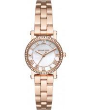 Michael Kors MK3558 Ladies Norie subiu banhado a ouro pulseira de relógio