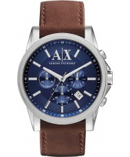 Armani Exchange AX2501 azul relógio de vestido cronógrafo marrom dos homens