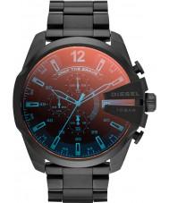 Diesel DZ4318 Mens mega-chefe relógio ip preto cronógrafo