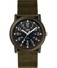 Timex T41711 Mens preto campista verde expedição relógio