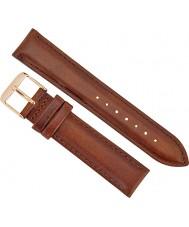 Daniel Wellington DW00200075 Ladies elegante mawes st 21 milímetros subiu de couro marrom pulseira de reposição de ouro