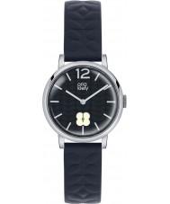 Orla Kiely OK2005 Ladies frankie marinha pulseira de couro relógio