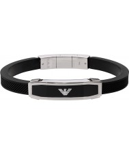Emporio Armani EGS1543040 Homens inlay pulseira preta
