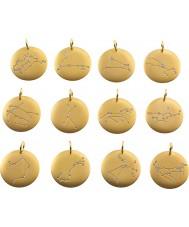 Edblad 31630145-B Charmentity pisces matt pingente banhado a ouro do zodíaco