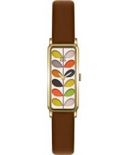 Orla Kiely OK2104 Ladies tronco de impressão tan couro pulseira de relógio