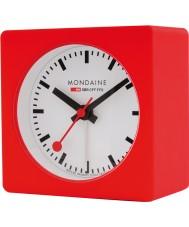 Mondaine A996-ALIG-30SBB relógio cubo vermelho de alarme
