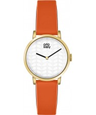 Orla Kiely OK2114 Ladies luna couro laranja pulseira de relógio