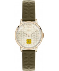 Orla Kiely OK2006 Ladies frankie oliva relógio com pulseira de couro