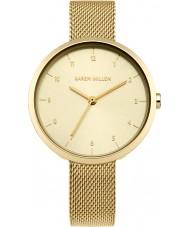 Karen Millen KM135GM Ladies banhado a ouro pulseira relógio