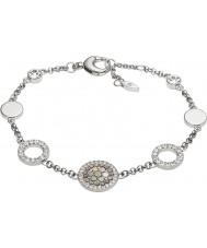 Fossil JF02311040 Ladies Glitz do vintage pulseira de aço de prata