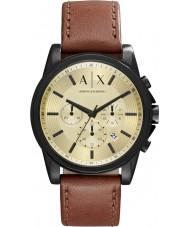 Armani Exchange AX2511 Mens outerbanks escuro relógio cronógrafo marrom