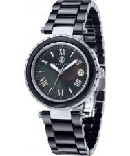 Klaus Kobec KK-10005-04 Ladies venus aço e relógio de cerâmica preta
