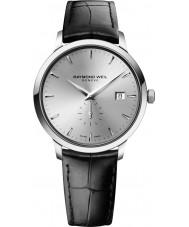 Raymond Weil 5484-STC-65001 Mens tocata pulseira de relógio de couro preto
