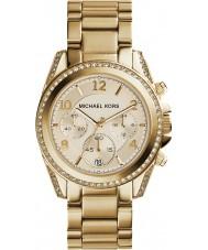 Michael Kors MK5166 Ladies banhado a ouro relógio cronógrafo