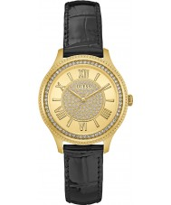 Guess W0840L1 Ladies madison couro preto relógio pulseira