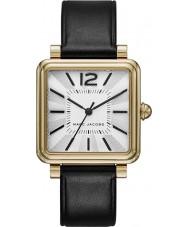 Marc Jacobs MJ1437 Ladies vic couro preto pulseira de relógio