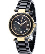Klaus Kobec KK-10005-05 Ladies venus ouro e relógio de cerâmica preta