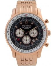 Krug-Baumen 600602DS Mens viajante ar relógio de diamantes