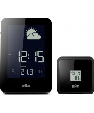 Braun BNC013BK-RC Rádio controlado relógio de estação meteorológica - preto