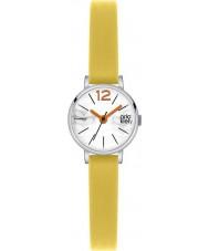 Orla Kiely OK2007 Ladies frankie couro amarelo pulseira de relógio
