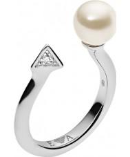 Emporio Armani EG3288040-6.5 Ladies deco pérolas anel de prata esterlina - tamanho m.5