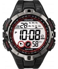 Timex T5K423 Mens relógio do esporte maratona preto vermelho