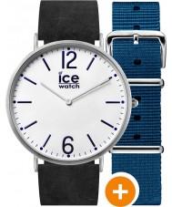 Ice-Watch CHL.B.FIN.41.N.15 Mens ice-cidade assistir com nylon azul e tiras de couro preto