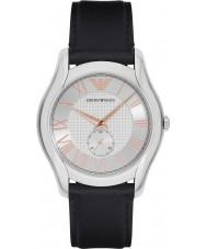 Emporio Armani AR1984 Mens couro preto clássico pulseira de relógio