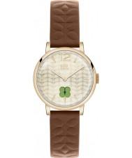 Orla Kiely OK2008 Ladies frankie marrom relógio de pulseira de couro