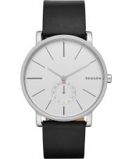 Skagen SKW6274 Mens Hagen couro preto relógio pulseira