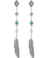 Thomas Sabo H1911-646-17 Senhoras prata dreamcatcher brincos etno penas