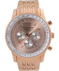 Krug-Baumen 600603DS Mens viajante ar relógio de diamantes