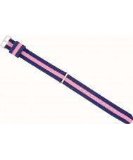 Daniel Wellington DW00200081 Ladies elegante 23 milímetros winchester rosa pink ouro e azul marinho nylon cinta de reposição