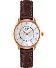 Rotary LS02919-03 Senhoras relógios Elise marrons do relógio da correia de couro