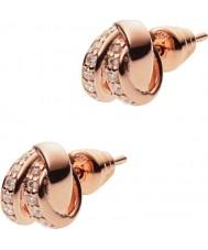 Emporio Armani EG3319221 Ladies stelle rosa brincos de prata esterlina ouro
