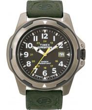 Timex T49271 Mens preto expedição campo verde robusto relógio