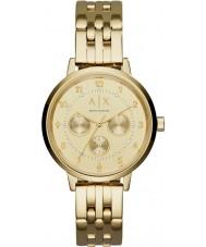 Armani Exchange AX5377 Ladies Payton pulseira de relógio de aço ouro