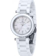Klaus Kobec KK-10006-01 Ladies venus aço e relógio de cerâmica branca