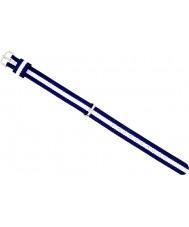 Daniel Wellington DW00200074 Ladies elegante 21,5 milímetros glasgow prata branco e azul marinho nylon cinta de reposição