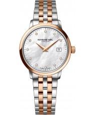 Raymond Weil 5988-SP5-97081 Ladies tocata dois tons de aço do diamante do relógio